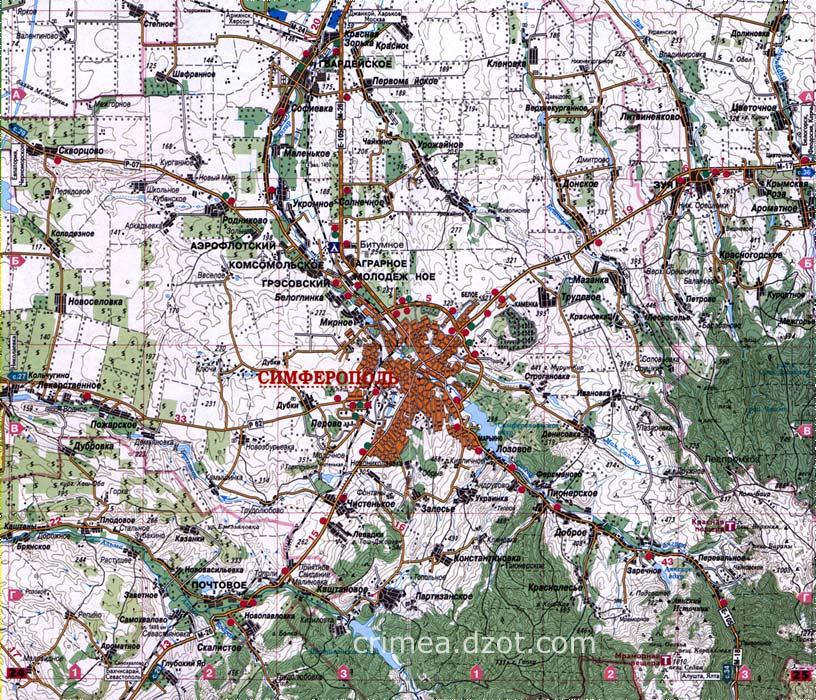 Карта улиц города симферополь со