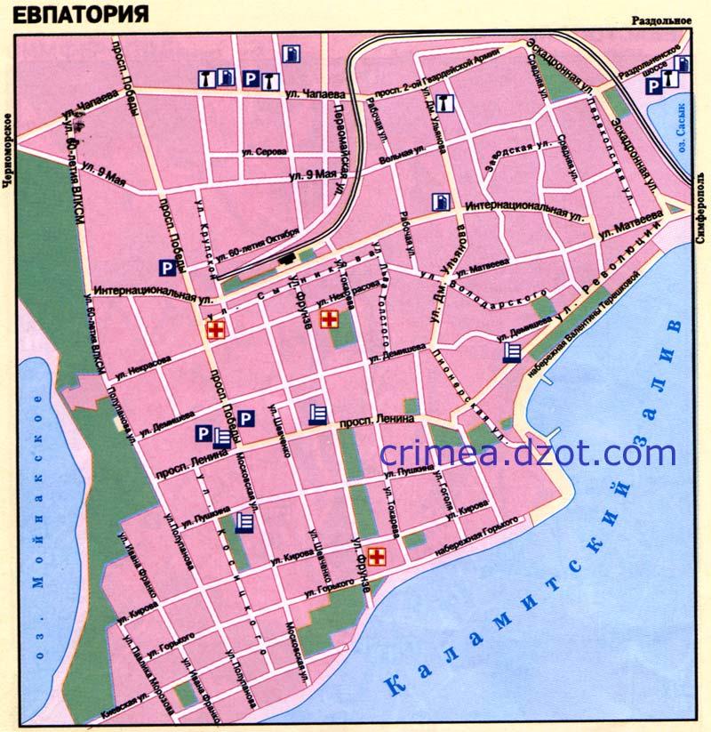 Карта Евпатории